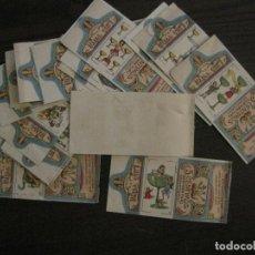 Barajas de cartas: BARAJA INCOMPLETA- 20 CARTAS ENVOLTORIOS AZAFRAN-LUIS PAYA-NOVELDA-VER FOTOS-(V-16.722). Lote 162055682