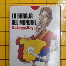 Barajas de cartas: BARAJA ESPAÑOLA SATIRICA RAUL..-LA BARAJA DEL MUNDIAL-SELECCION-.REALIZADA POR GALLEGO Y REY. Lote 202317373