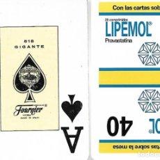 Barajas de cartas: BARAJA PÓKER HERACLIO FOURNIER REVERSO PUBLICIDAD LIPEMOL. Lote 162763602
