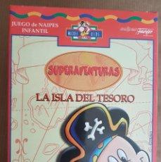Jeux de cartes: LA ISLA DEL TESORO. SUPERAVENTURAS. BARAJA OFICIAL DE FOURNIER. CONSERVA EL ENVOLTORIO ORIGINAL.. Lote 162798142