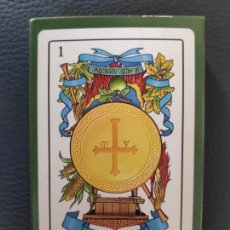 Barajas de cartas: BARAJA ASTURIANA TEMATICA COSTUMBRISTA LOCAL - HERACLIO FOURNIER-NUEVA SIN USAR-. Lote 189613383
