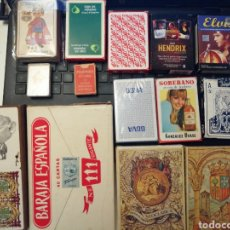 Barajas de cartas: LOTE DE 15 BARAJAS DE CARTAS. Lote 163392826