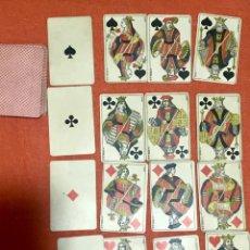 Barajas de cartas: ANTIGUA BARAJA FRANCESA ORIGINAL B P GRIMAUD COMPLETA S XIX 52 CARTAS NAIPES FRANCIA PINTURA MANO. Lote 163428694
