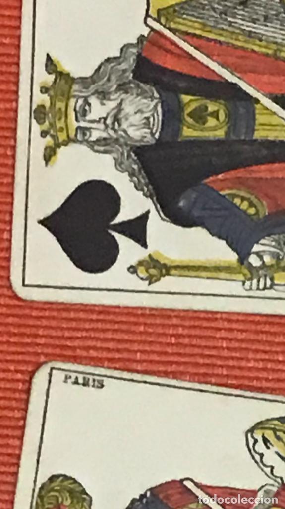 Barajas de cartas: antigua baraja francesa original b p grimaud completa s XIX 52 cartas naipes francia pintura mano - Foto 6 - 163428694