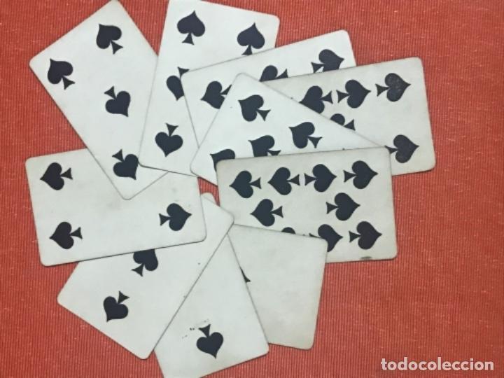 Barajas de cartas: antigua baraja francesa original b p grimaud completa s XIX 52 cartas naipes francia pintura mano - Foto 7 - 163428694