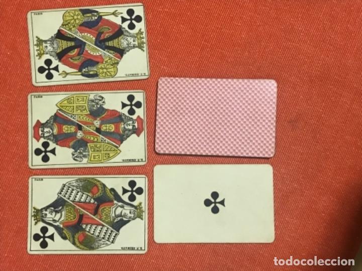 Barajas de cartas: antigua baraja francesa original b p grimaud completa s XIX 52 cartas naipes francia pintura mano - Foto 8 - 163428694