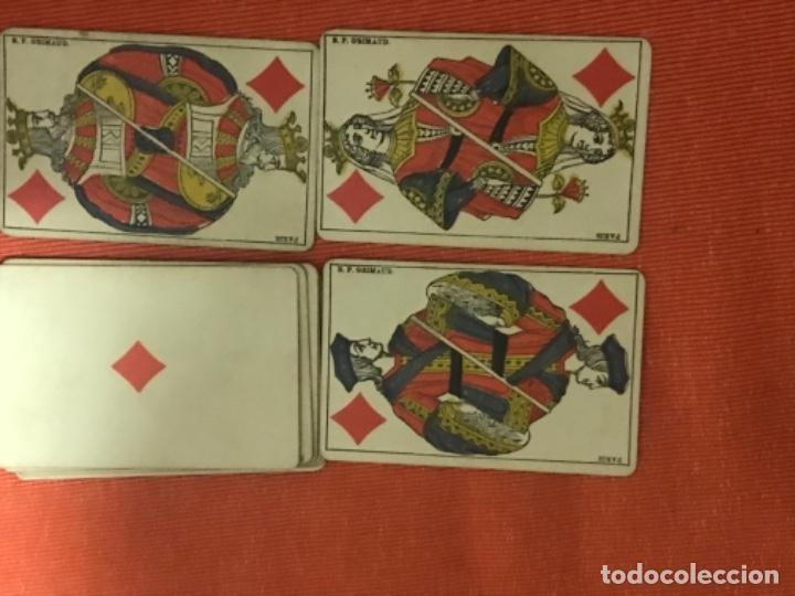 Barajas de cartas: antigua baraja francesa original b p grimaud completa s XIX 52 cartas naipes francia pintura mano - Foto 12 - 163428694