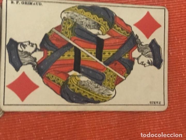Barajas de cartas: antigua baraja francesa original b p grimaud completa s XIX 52 cartas naipes francia pintura mano - Foto 13 - 163428694