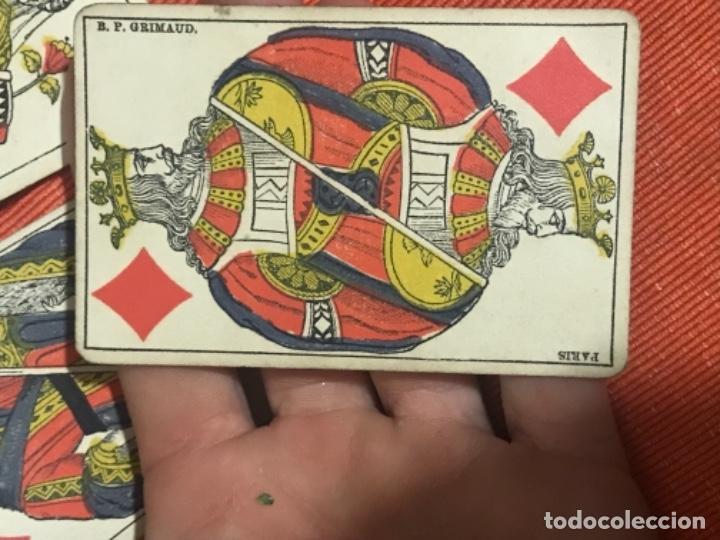 Barajas de cartas: antigua baraja francesa original b p grimaud completa s XIX 52 cartas naipes francia pintura mano - Foto 14 - 163428694
