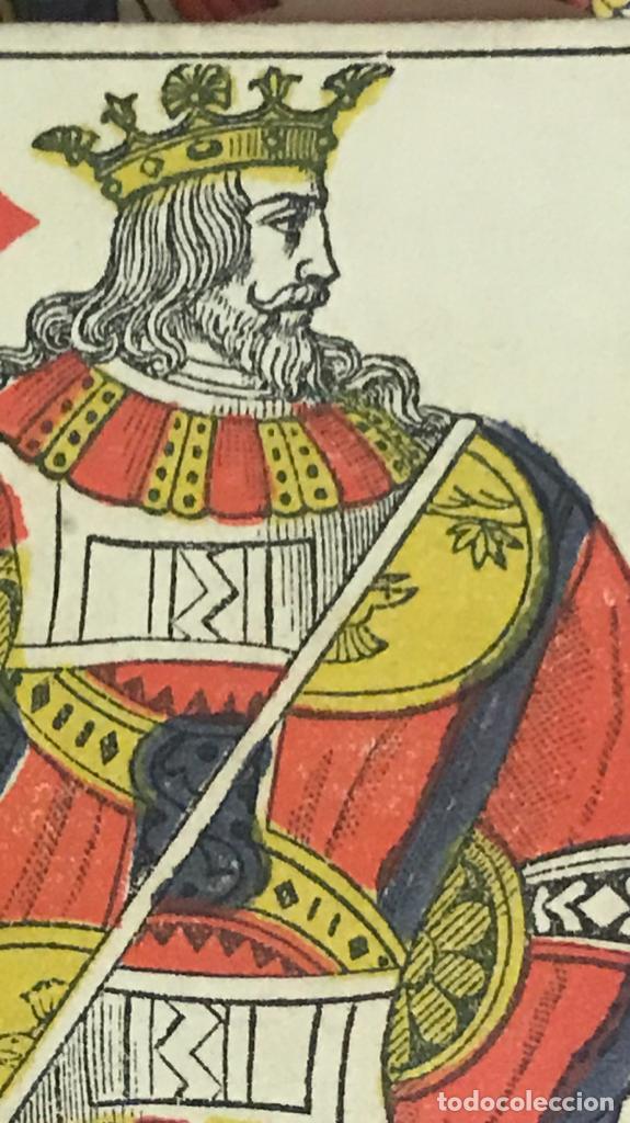Barajas de cartas: antigua baraja francesa original b p grimaud completa s XIX 52 cartas naipes francia pintura mano - Foto 15 - 163428694
