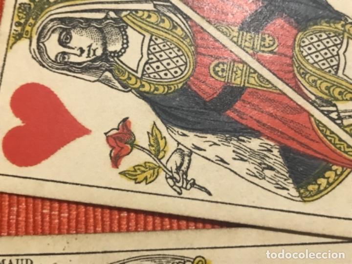 Barajas de cartas: antigua baraja francesa original b p grimaud completa s XIX 52 cartas naipes francia pintura mano - Foto 18 - 163428694