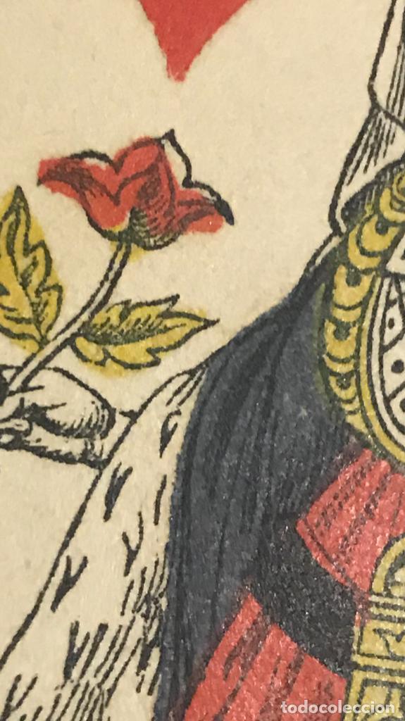 Barajas de cartas: antigua baraja francesa original b p grimaud completa s XIX 52 cartas naipes francia pintura mano - Foto 19 - 163428694