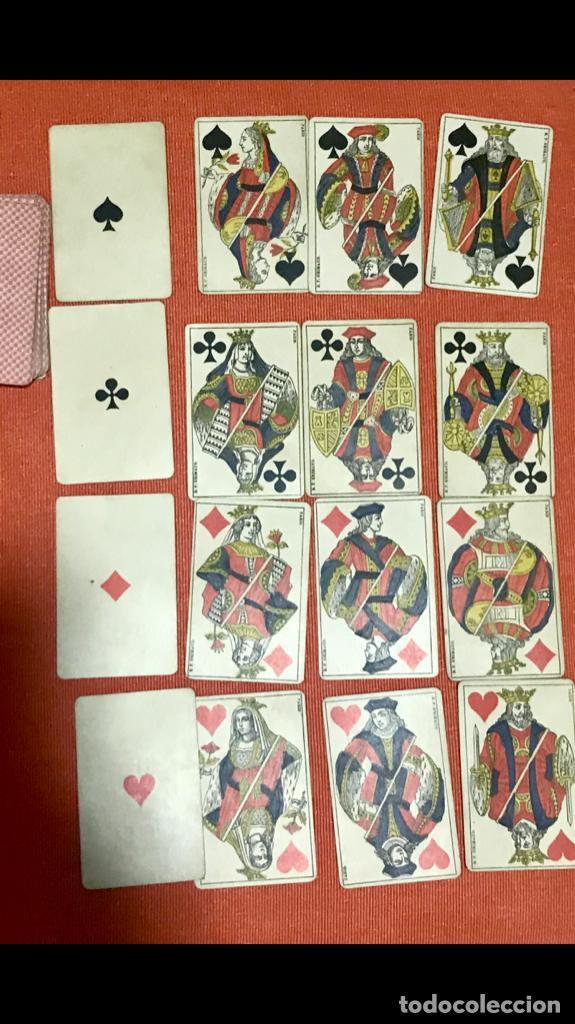 Barajas de cartas: antigua baraja francesa original b p grimaud completa s XIX 52 cartas naipes francia pintura mano - Foto 23 - 163428694