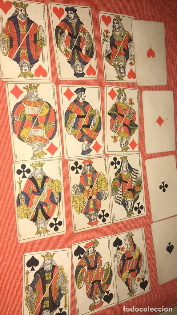 Barajas de cartas: antigua baraja francesa original b p grimaud completa s XIX 52 cartas naipes francia pintura mano - Foto 24 - 163428694