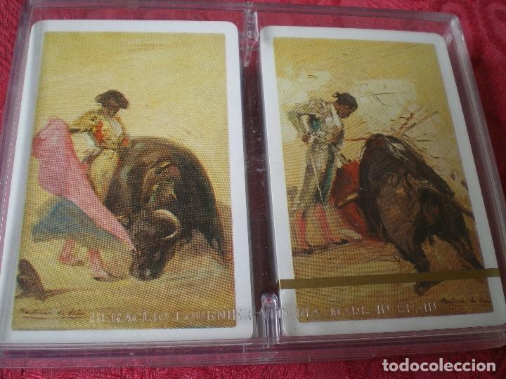 Barajas de cartas: LOTE 2 BARAJAS FOURNIER MOTIVOS TAURINOS. EN CAJA, UNA PRECINTADA, LA OTRA ABIERTA PERO SIN USO. - Foto 2 - 163460846
