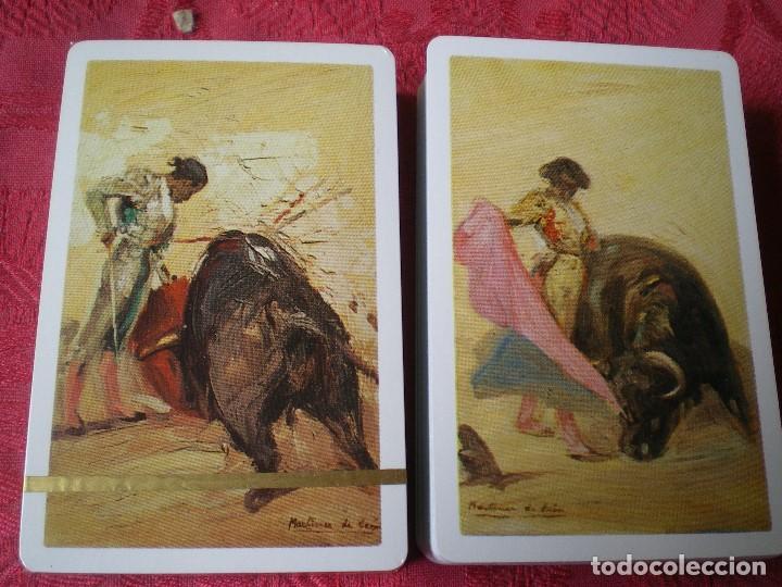 Barajas de cartas: LOTE 2 BARAJAS FOURNIER MOTIVOS TAURINOS. EN CAJA, UNA PRECINTADA, LA OTRA ABIERTA PERO SIN USO. - Foto 3 - 163460846