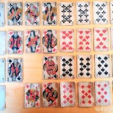 Barajas de cartas: NAIPES FRANCESAS POKER 30 CARTAS 1890 TRANSPARENCIA FLOR DE LIS. Lote 163669206