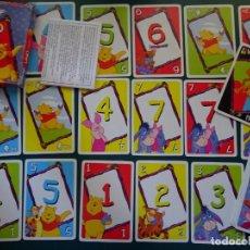 Barajas de cartas: BARAJA DE CARTAS INFANTIL. JUEGO UNO DEL OSO WINNIE THE POOH Y AMIGOS. MATTEL. 110 GR. Lote 163822310