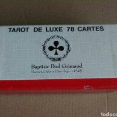 Barajas de cartas: BAPTISTE GRIMAUD TAROT DE LUXE. Lote 163892150