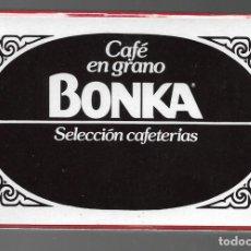 Barajas de cartas: BARAJA NAIPE ESPAÑOL REVERSO PUBLICIDAD CAFE BONKA. PRECINTADA, COMAS.. Lote 164427874