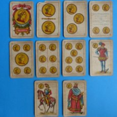 Barajas de cartas: BARAJA ANTIGUA SIMEON DURA VALENCIA NAIPES INTRANSPARENTES UNA SOLA HOJA Nº 25-G COMPLETA 40 CARTAS. Lote 164592946