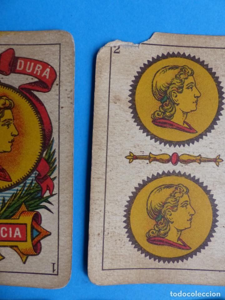 Barajas de cartas: BARAJA ANTIGUA SIMEON DURA VALENCIA NAIPES INTRANSPARENTES UNA SOLA HOJA Nº 25-G COMPLETA 40 CARTAS - Foto 2 - 164592946
