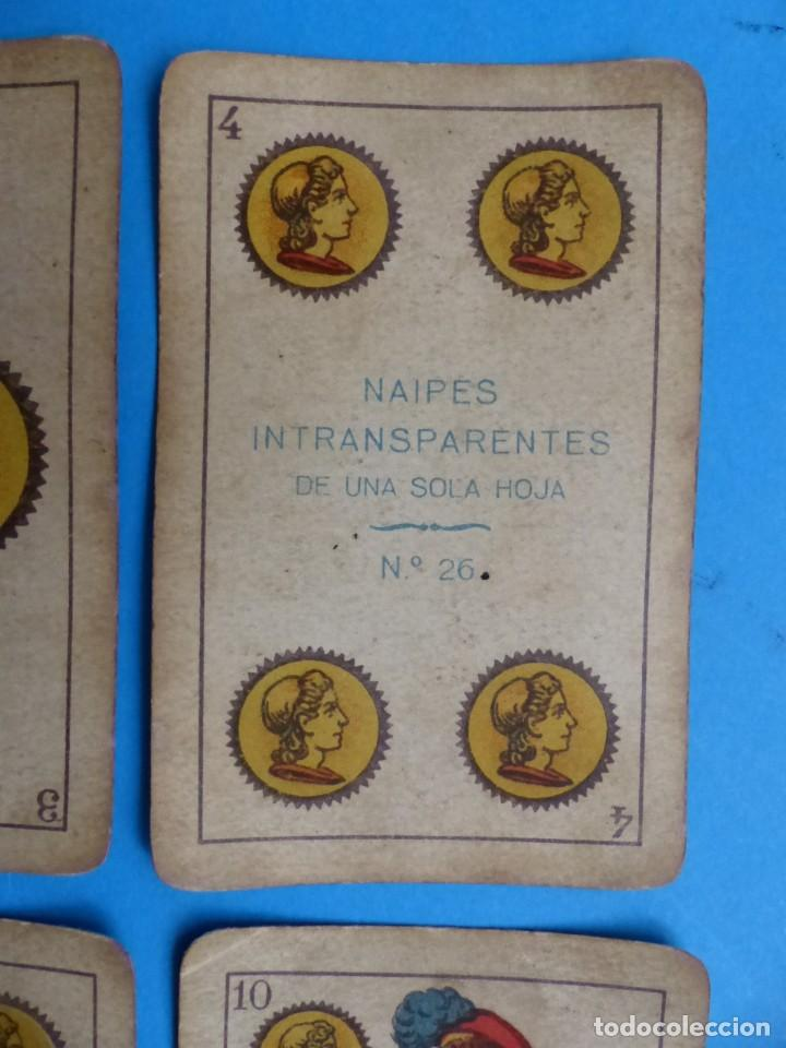 Barajas de cartas: BARAJA ANTIGUA SIMEON DURA VALENCIA NAIPES INTRANSPARENTES DE UNA SOLA HOJA Nº 26 FALTA 1 CARTA - Foto 2 - 164594842