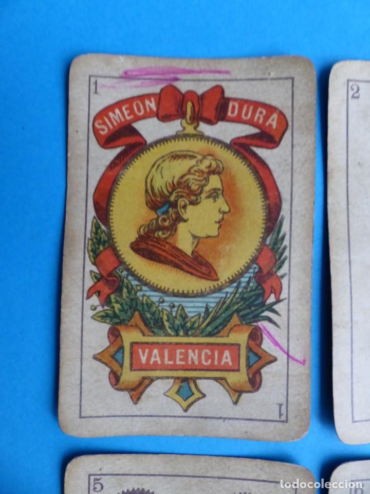Barajas de cartas: BARAJA ANTIGUA SIMEON DURA VALENCIA NAIPES INTRANSPARENTES DE UNA SOLA HOJA Nº 26 FALTA 1 CARTA - Foto 4 - 164594842