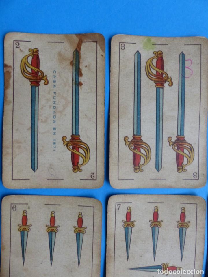 Barajas de cartas: BARAJA ANTIGUA SIMEON DURA VALENCIA NAIPES INTRANSPARENTES DE UNA SOLA HOJA Nº 26 FALTA 1 CARTA - Foto 9 - 164594842