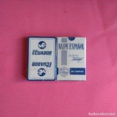 Barajas de cartas: BARAJA DE CARTAS HERACLIO FOURNIER PUBLICIDAD VIAJES ECUADOR 40 CARTAS NAIPES PRECINTADA. Lote 164797174