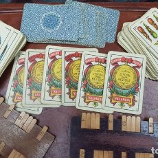 Barajas de cartas: ANTIGUO JUEGO BEZIQUE DE SIMEON DURA, VALENCIA CON CONTADORES , BARAJA DE CARTAS, NAIPES. Lote 165166694