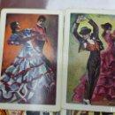 Barajas de cartas: FOURNIER 2 BARAJAS CON TRASERA BALIADORA ANDALUZA FLAMENCO, COMPLETAS. Lote 165168626