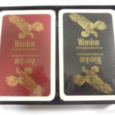 Barajas de cartas: BARAJA DE CARTAS DOBLE. WINSTON INTERNATIONAL. CON CAJA DE PLASTICO. BELGICA. VER FOTOS. Lote 165330414