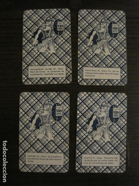Barajas de cartas: BARAJA DE CARTAS ANTIGUA-FARMACIA-PUBLICIDAD PASTILLAS DR GRAU -COMPLETA 48 CR-VER FOTOS-(V-17.077) - Foto 4 - 165374598