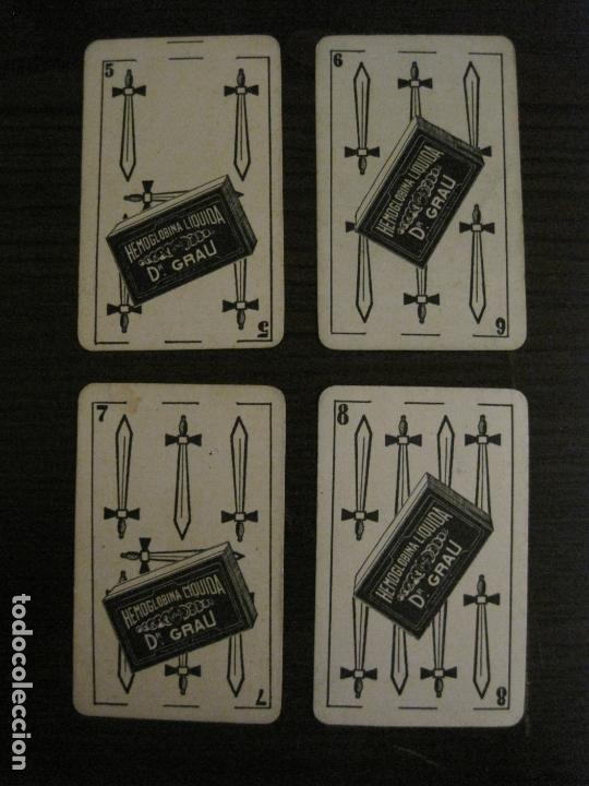Barajas de cartas: BARAJA DE CARTAS ANTIGUA-FARMACIA-PUBLICIDAD PASTILLAS DR GRAU -COMPLETA 48 CR-VER FOTOS-(V-17.077) - Foto 17 - 165374598