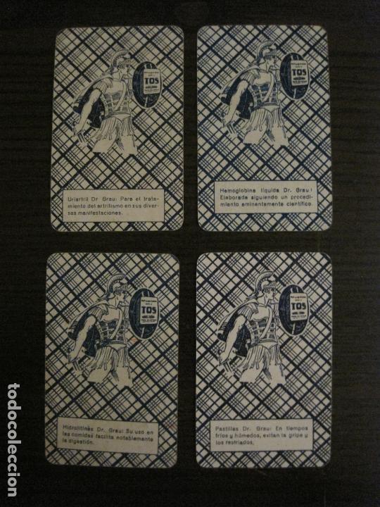 Barajas de cartas: BARAJA DE CARTAS ANTIGUA-FARMACIA-PUBLICIDAD PASTILLAS DR GRAU -COMPLETA 48 CR-VER FOTOS-(V-17.077) - Foto 18 - 165374598