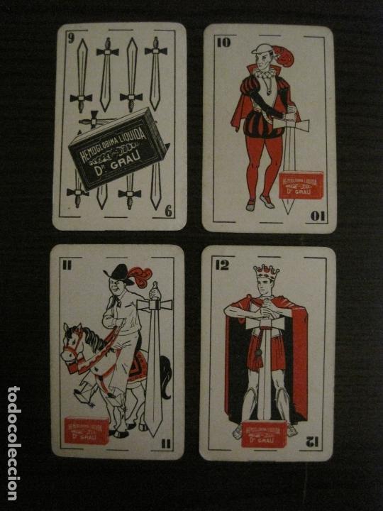 Barajas de cartas: BARAJA DE CARTAS ANTIGUA-FARMACIA-PUBLICIDAD PASTILLAS DR GRAU -COMPLETA 48 CR-VER FOTOS-(V-17.077) - Foto 19 - 165374598