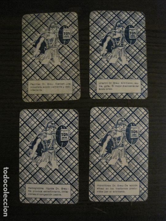 Barajas de cartas: BARAJA DE CARTAS ANTIGUA-FARMACIA-PUBLICIDAD PASTILLAS DR GRAU -COMPLETA 48 CR-VER FOTOS-(V-17.077) - Foto 22 - 165374598