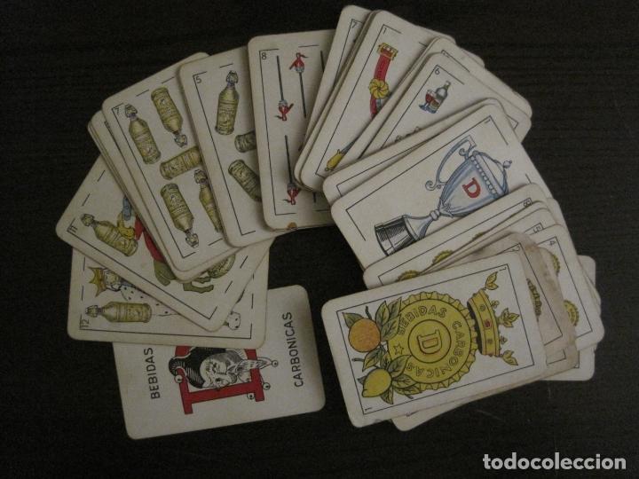 Barajas de cartas: BARAJA DE CARTAS ANTIGUA-PUBLICIDAD GASEOSAS D-ANTECESOR COCA COLA-NAIPES COMAS-VER FOTOS-(V-17.078) - Foto 2 - 165376550