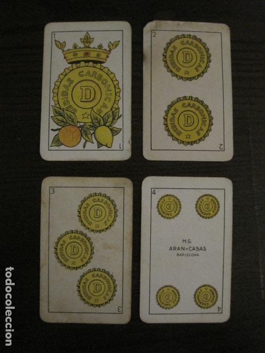 Barajas de cartas: BARAJA DE CARTAS ANTIGUA-PUBLICIDAD GASEOSAS D-ANTECESOR COCA COLA-NAIPES COMAS-VER FOTOS-(CR-2520) - Foto 3 - 165376550