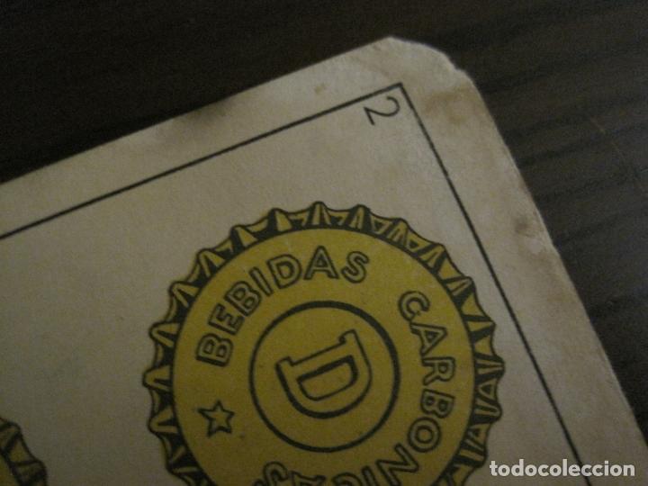 Barajas de cartas: BARAJA DE CARTAS ANTIGUA-PUBLICIDAD GASEOSAS D-ANTECESOR COCA COLA-NAIPES COMAS-VER FOTOS-(V-17.078) - Foto 6 - 165376550