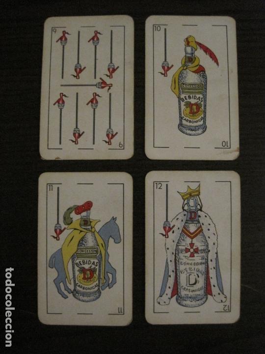 Barajas de cartas: BARAJA DE CARTAS ANTIGUA-PUBLICIDAD GASEOSAS D-ANTECESOR COCA COLA-NAIPES COMAS-VER FOTOS-(V-17.078) - Foto 22 - 165376550