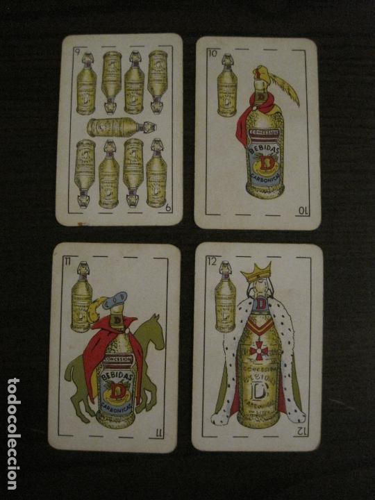 Barajas de cartas: BARAJA DE CARTAS ANTIGUA-PUBLICIDAD GASEOSAS D-ANTECESOR COCA COLA-NAIPES COMAS-VER FOTOS-(V-17.078) - Foto 28 - 165376550