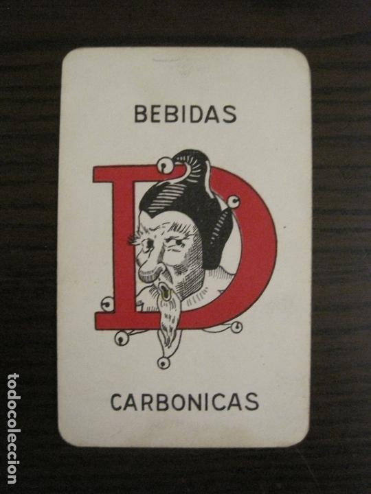 Barajas de cartas: BARAJA DE CARTAS ANTIGUA-PUBLICIDAD GASEOSAS D-ANTECESOR COCA COLA-NAIPES COMAS-VER FOTOS-(V-17.078) - Foto 30 - 165376550