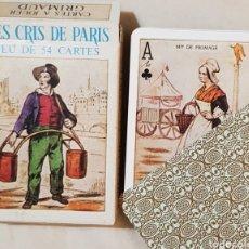 Barajas de cartas: BARAJA FRANCESA LES CRIS DE PARIS. 54 CARTAS. GRIMAUD.. Lote 165403889