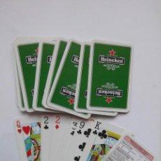 Jeux de cartes: BARAJA DE CARTAS DE POKER HEINEKEN. DEBIBL. Lote 165533010