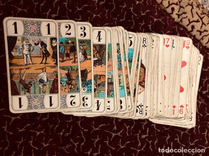 Barajas de cartas: Juego de naipes de 55 antiguas cartas de B.P grimaud ( Francia)1870 están en buen estado - Foto 2 - 165853037
