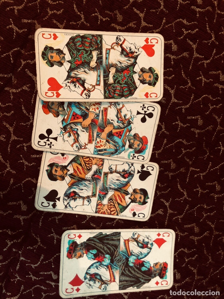 Barajas de cartas: Juego de naipes de 55 antiguas cartas de B.P grimaud ( Francia)1870 están en buen estado - Foto 10 - 165853037