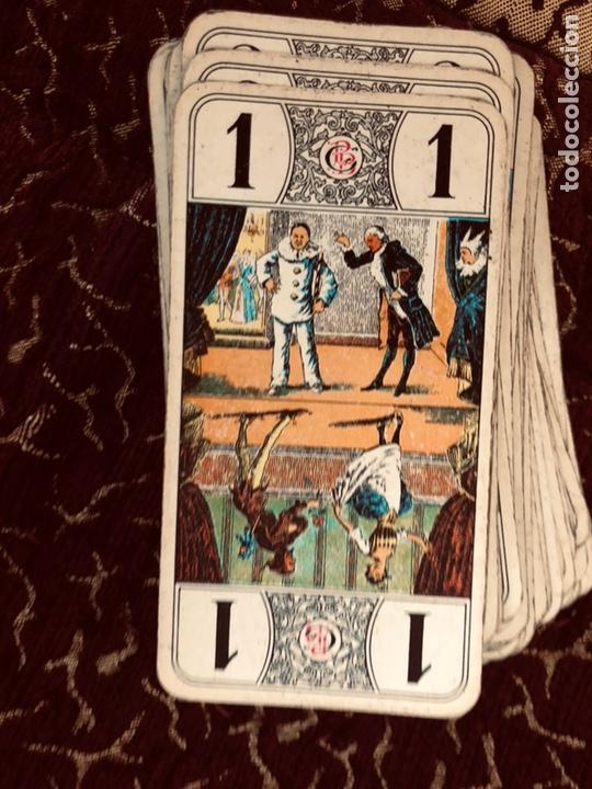 JUEGO DE NAIPES DE 55 ANTIGUAS CARTAS DE B.P GRIMAUD ( FRANCIA)1870 ESTÁN EN BUEN ESTADO (Juguetes y Juegos - Cartas y Naipes - Barajas Tarot)