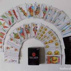 Barajas de cartas: LIBRERIA GHOTICA. BARAJA ESPAÑOLA BACARDI. 50 CARTAS.1980.. Lote 165881114